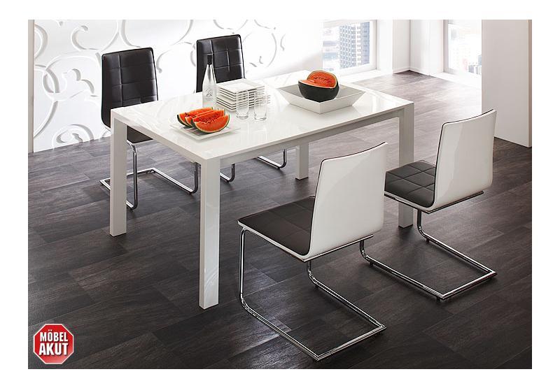 4er set stuhl look freischwinger schwingstuhl in schwarz chrom neu ebay. Black Bedroom Furniture Sets. Home Design Ideas
