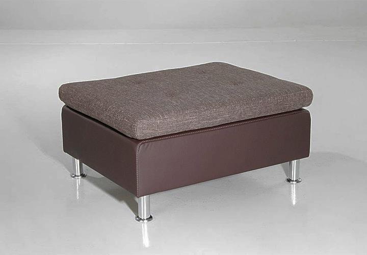 ecksofa montego mit ottomane braun inkl 6 r ckenkissen. Black Bedroom Furniture Sets. Home Design Ideas