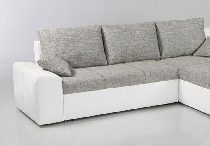 ecksofa kayne mit bettfunktion wei grau. Black Bedroom Furniture Sets. Home Design Ideas