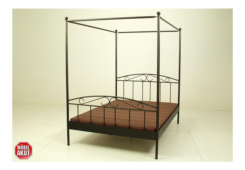 himmelbett cyneste bett metall schwarz matt schmiedeoptik b 140 cm ebay. Black Bedroom Furniture Sets. Home Design Ideas
