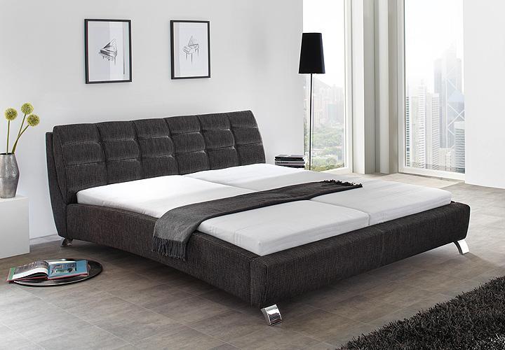 polsterbett koko schwarz inkl kopfteil 180x200 cm. Black Bedroom Furniture Sets. Home Design Ideas