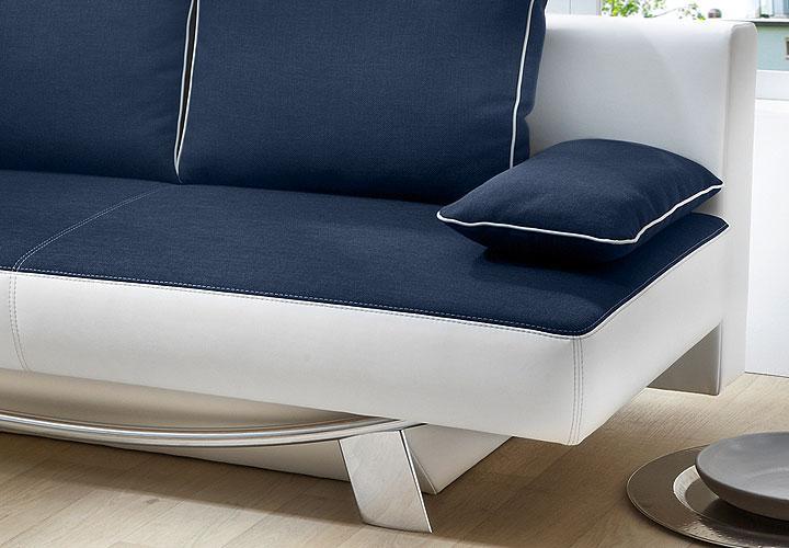 schlafsofa bibo mit bettkasten wei blau. Black Bedroom Furniture Sets. Home Design Ideas