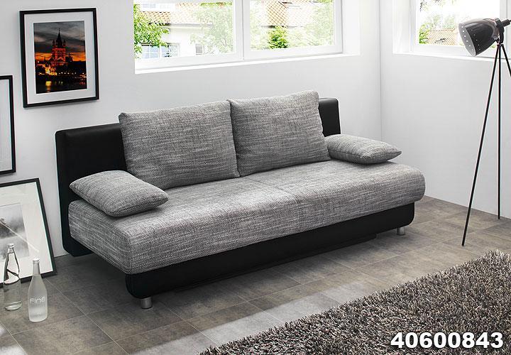 schlafsofa myco mit bettkasten braun grau. Black Bedroom Furniture Sets. Home Design Ideas
