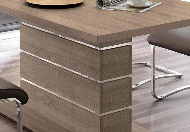 esstisch ronaldo sonoma eiche tr ffel dekor 160x90 cm. Black Bedroom Furniture Sets. Home Design Ideas
