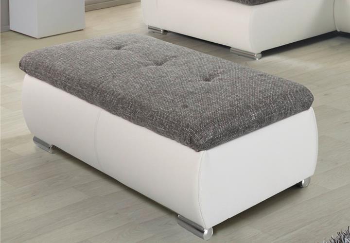 wohnlandschaft firrara grau wei mit hocker pictures to. Black Bedroom Furniture Sets. Home Design Ideas