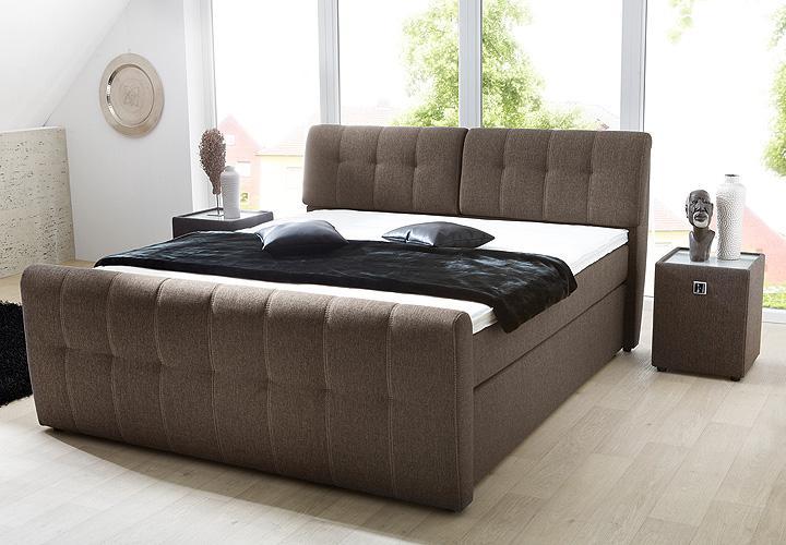 boxspringbett belcanto braun 180x200 verstellbares kopfteil. Black Bedroom Furniture Sets. Home Design Ideas