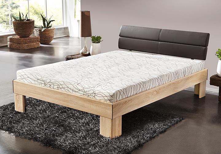 futonbett birdie bett sonoma eiche s gerau und braun rollrost matratze 140x200 ebay. Black Bedroom Furniture Sets. Home Design Ideas