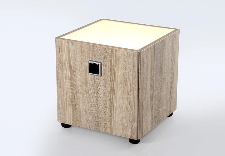 nachtkommode lightly nachtschrank nako in sonoma eiche s gerau inkl beleuchtung ebay. Black Bedroom Furniture Sets. Home Design Ideas