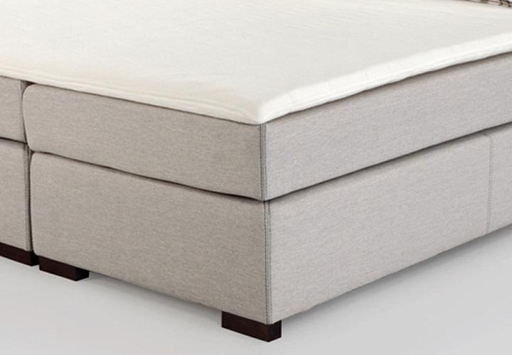 boxspringbett romantica lava beige inkl topper 180x200 cm. Black Bedroom Furniture Sets. Home Design Ideas