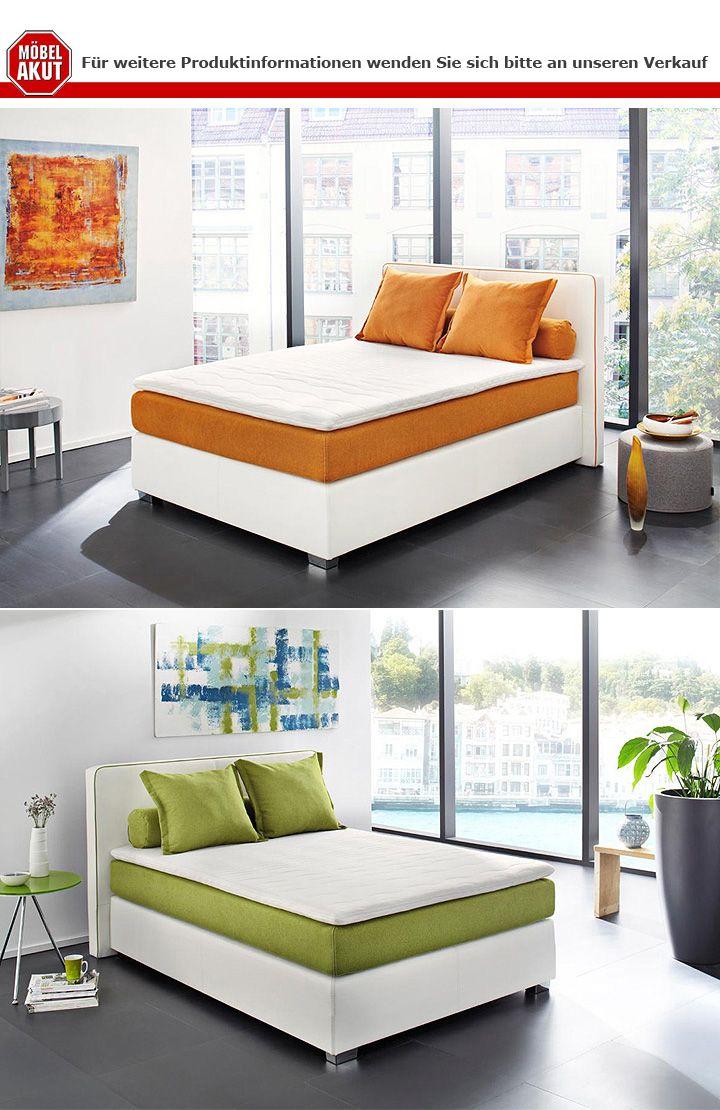 boxspringbett osal bett schlafzimmerbett in wei gr n topper 140x200 cm ebay. Black Bedroom Furniture Sets. Home Design Ideas