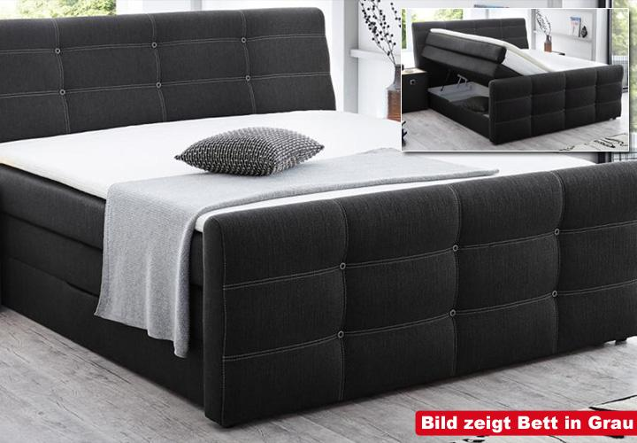 boxspringbett grande hell braun 180x200 cm. Black Bedroom Furniture Sets. Home Design Ideas
