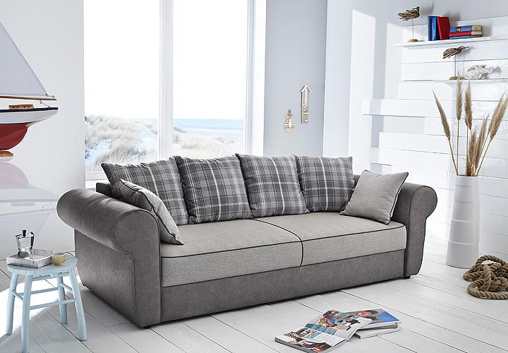 schlafsofa landini sofa dauerschl fer bettkasten grau beige. Black Bedroom Furniture Sets. Home Design Ideas