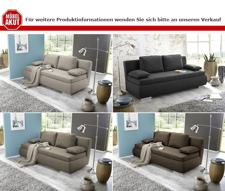 boxspring schlafsofa memphis sofa dauerschl fer hellbraun. Black Bedroom Furniture Sets. Home Design Ideas