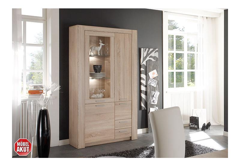 vitrine tablo schrank in sonoma eiche s gerau neu. Black Bedroom Furniture Sets. Home Design Ideas