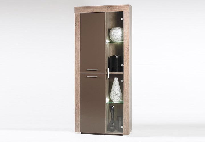 vitrine saturn schrank eiche tr ffel sonoma design ebay. Black Bedroom Furniture Sets. Home Design Ideas
