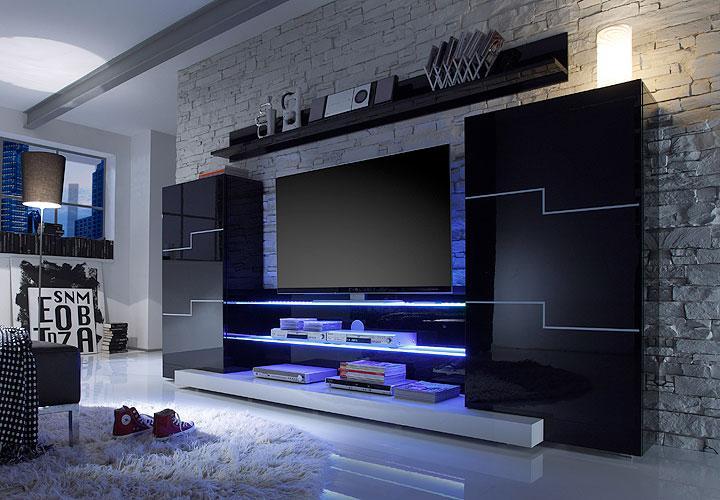 Wohnwand weiß schwarz hochglanz  funvit.com | designer wohnwand. wohnzimmermöbel weiß hochglanz ...