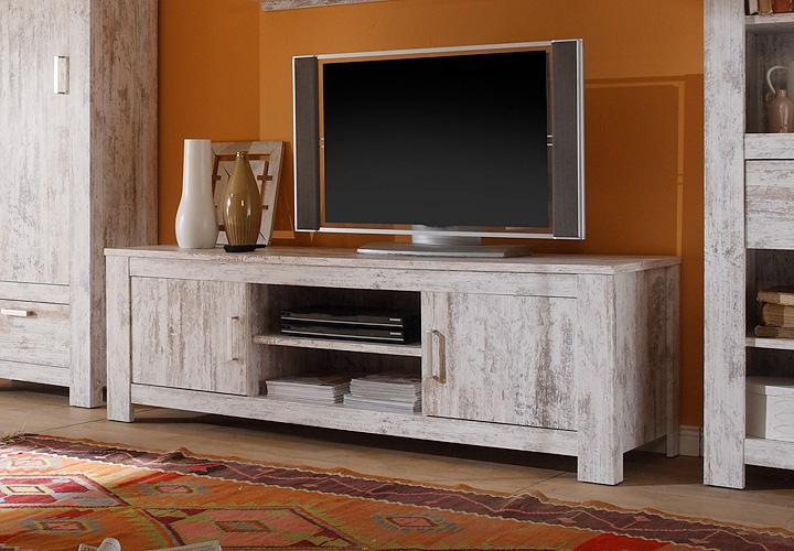 tv board lesla tv unterteil lowboard in vintage pinie ebay. Black Bedroom Furniture Sets. Home Design Ideas