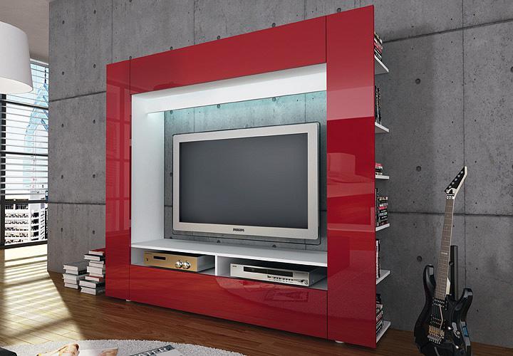 Wohnzimmerwand Rot. Malerische Wandgestaltung Wohnzimmer Grau Rot