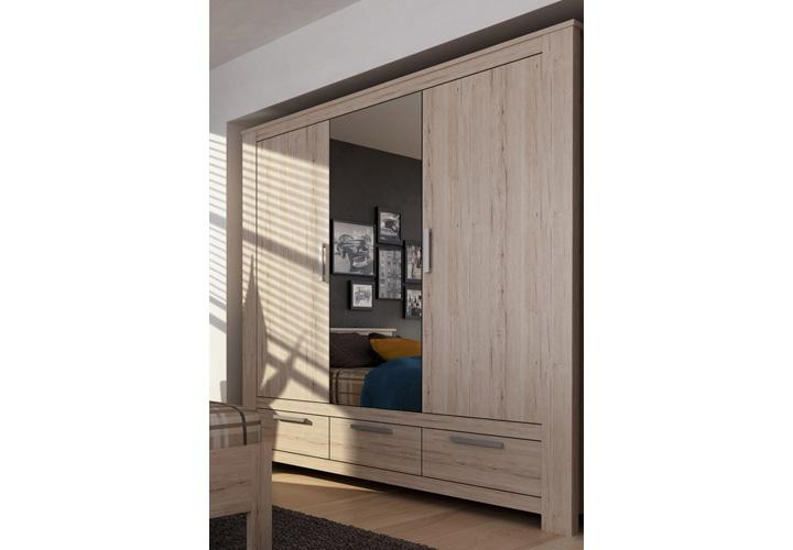 kleiderschrank lena schrank in san remo eiche sand dekor. Black Bedroom Furniture Sets. Home Design Ideas