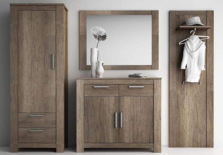 garderoben set charleston eiche monument. Black Bedroom Furniture Sets. Home Design Ideas