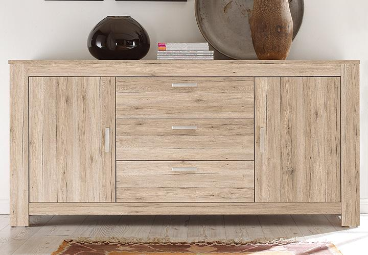 sideboard lena anrichte kommode in eiche san remo sand. Black Bedroom Furniture Sets. Home Design Ideas