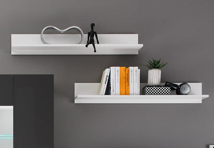 Design Wohnwand Anbauwand Weiß Grau ~ zum vergrößern bild anklicken