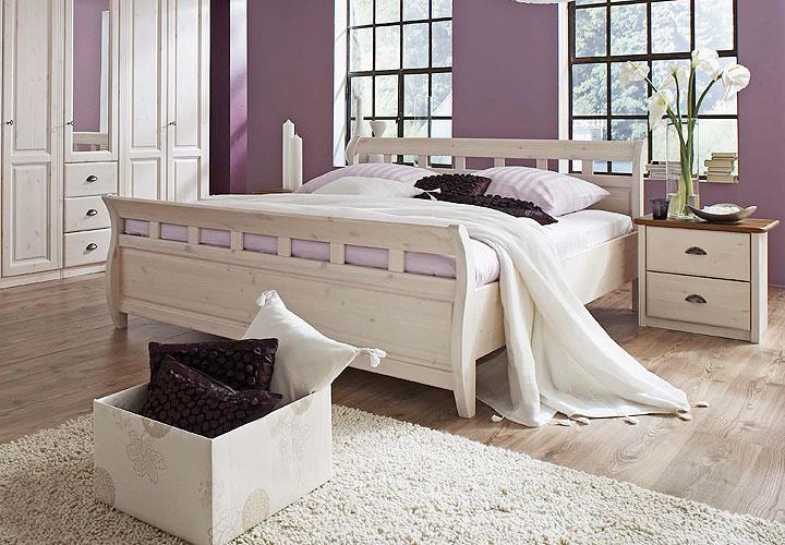 bett ole sprossenbett schlafzimmerbett in kiefer wei massiv 180x200 ebay. Black Bedroom Furniture Sets. Home Design Ideas
