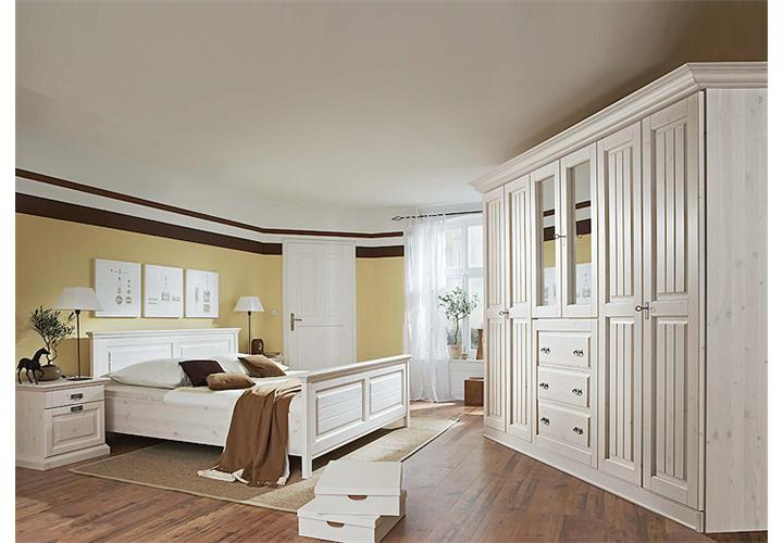 bett malta schlafzimmerbett in kiefer massiv wei 200x200. Black Bedroom Furniture Sets. Home Design Ideas