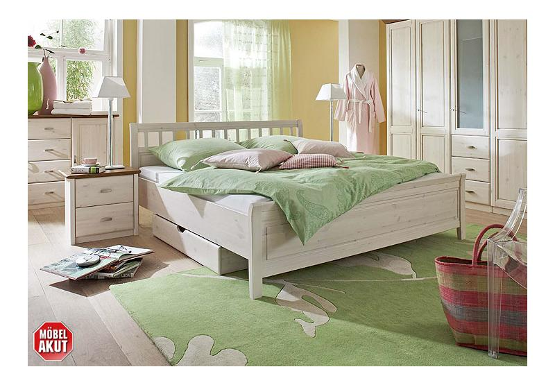 soeren sprossenbett kiefer massiv wei 180x200. Black Bedroom Furniture Sets. Home Design Ideas