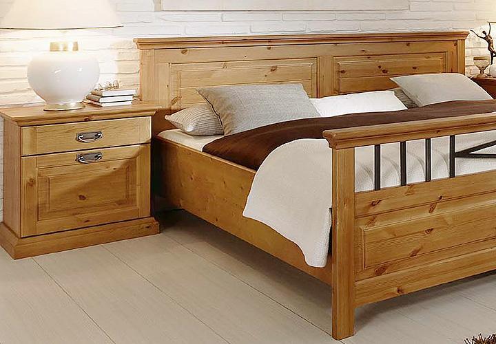schlafzimmer 2 malta kiefer massiv bernstein. Black Bedroom Furniture Sets. Home Design Ideas