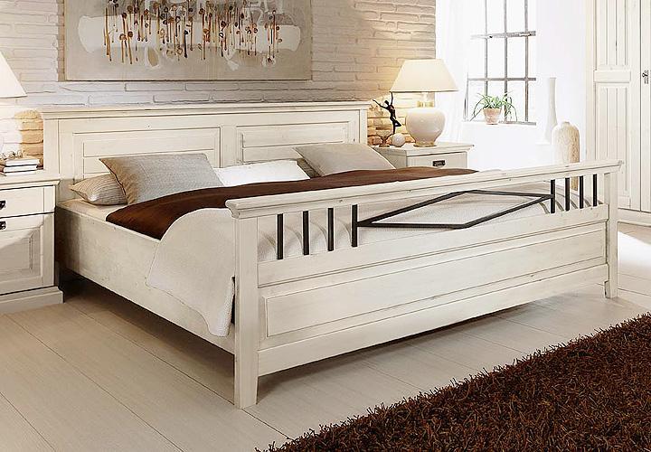 Schlafzimmer bett 180x200 bett massiv wei gnstig kaufen for Schlafzimmer komplett italienisch