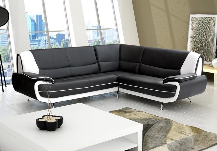 Ecksofa palermo midi wohnzimmer designer ecke in schwarz for Ecksofa im angebot
