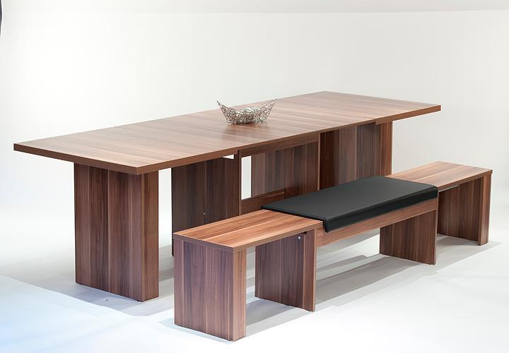 esstisch tobias ausziehbar 140 300x90 cm walnuss. Black Bedroom Furniture Sets. Home Design Ideas
