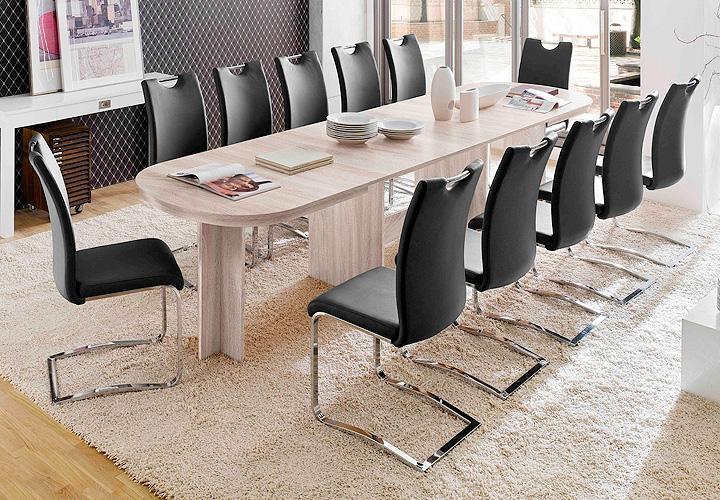 esstisch nancy esszimmer tisch ausziehbar in sonoma eiche s gerau 160 320x90 cm ebay. Black Bedroom Furniture Sets. Home Design Ideas