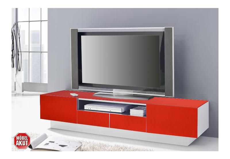 lowboard collos tv board in glas rot wei kommode neu ebay. Black Bedroom Furniture Sets. Home Design Ideas