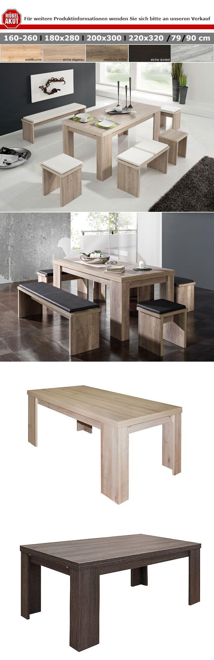 esstisch big zip sonoma eiche s gerau ausziehbar 180 280x90. Black Bedroom Furniture Sets. Home Design Ideas