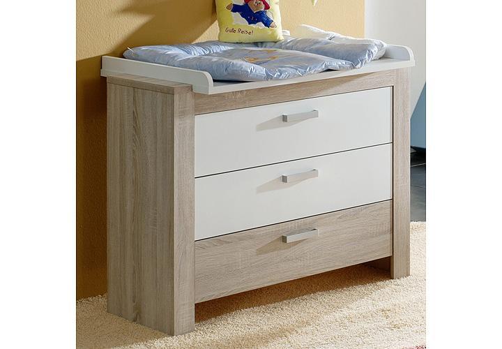 wickelkommode ben wickeltisch sonoma eiche s gerau wei ebay. Black Bedroom Furniture Sets. Home Design Ideas