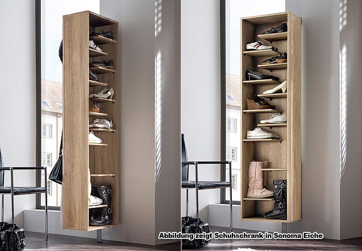 Schuhschrank woody i garderobe schuhregal in wei drehbar for Spiegel schuhschrank drehbar