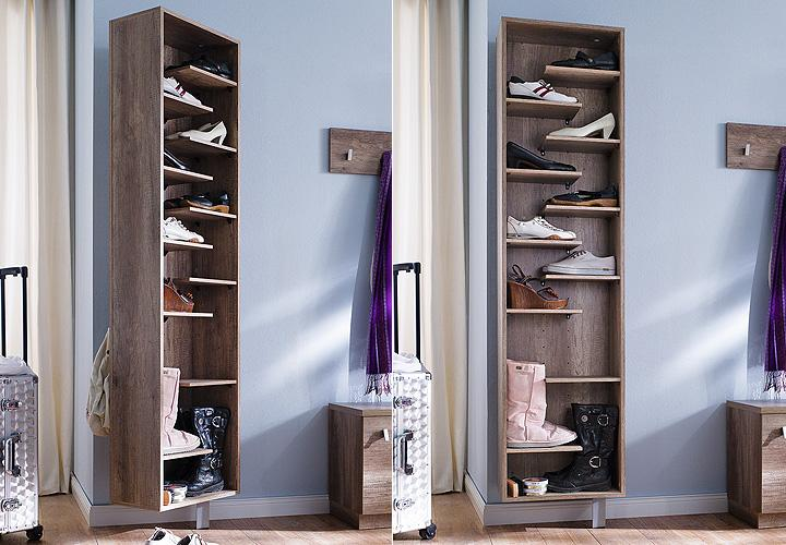 schuhschrank woody ii wildeiche tr ffel drehbar. Black Bedroom Furniture Sets. Home Design Ideas