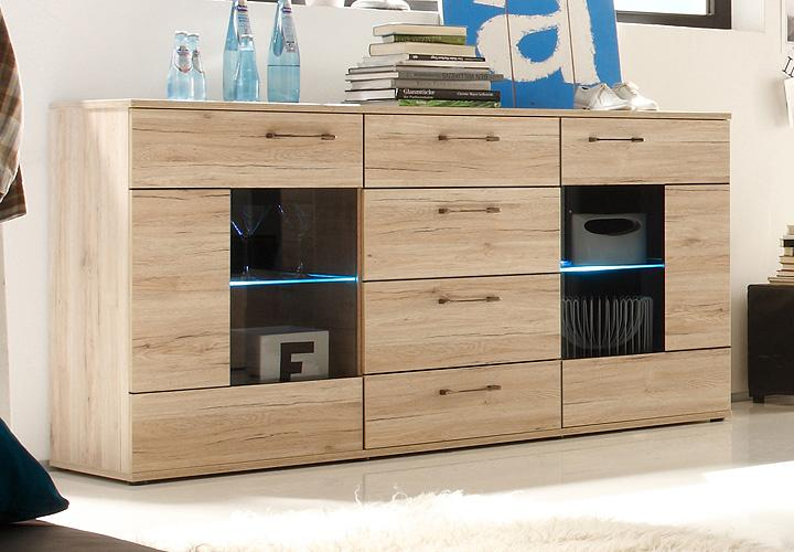 sideboard olivia kommode schrank in san remo eiche dekor. Black Bedroom Furniture Sets. Home Design Ideas