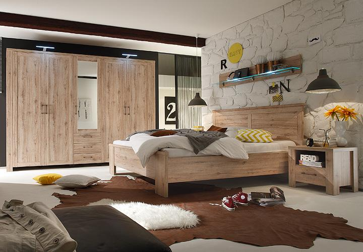 schlafzimmerset lupo 4 teilig in san remo eiche dekor. Black Bedroom Furniture Sets. Home Design Ideas