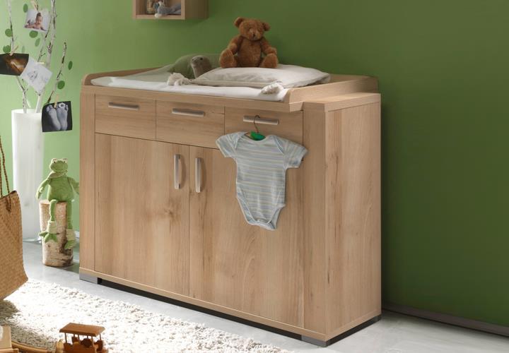 wickelkommode ziggo wickeltisch babyzimmer in edelbuche dekor 2 t rig ebay. Black Bedroom Furniture Sets. Home Design Ideas