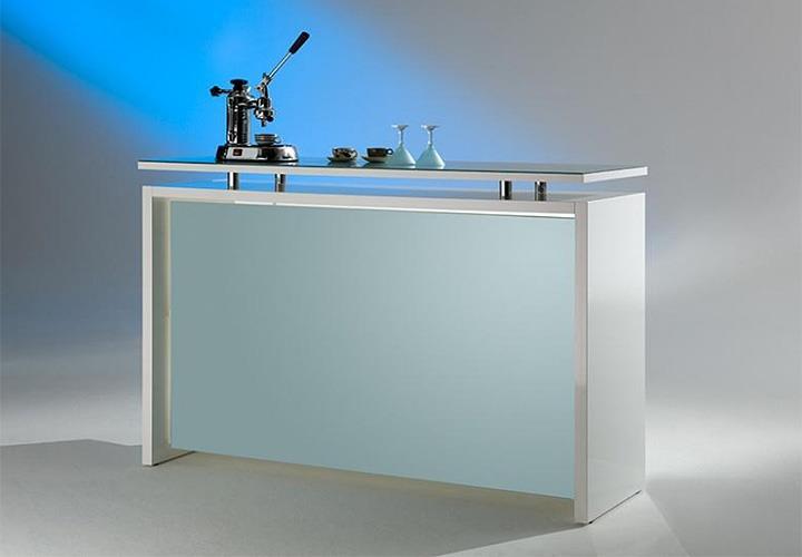 theke starlight milchglas und wei hochglanz. Black Bedroom Furniture Sets. Home Design Ideas