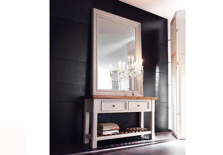 spiegel bodde spiegelrahmen in kiefer massiv wei. Black Bedroom Furniture Sets. Home Design Ideas