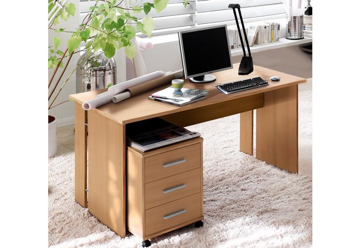 schreibtisch buche. Black Bedroom Furniture Sets. Home Design Ideas
