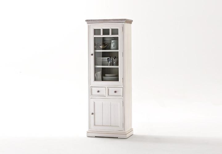 vitrine opus schrank in kiefer massiv wei vintage rechts. Black Bedroom Furniture Sets. Home Design Ideas