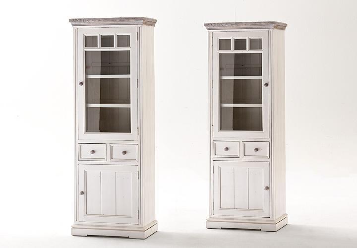 vitrine opus kiefer massiv wei vintage rechts. Black Bedroom Furniture Sets. Home Design Ideas