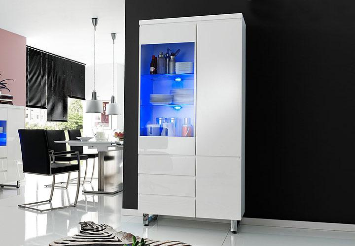 highboard vitrine wei hochglanz almada5 pictures to pin on pinterest. Black Bedroom Furniture Sets. Home Design Ideas