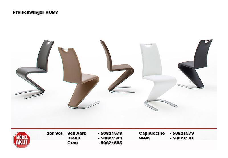 ruby 2er set schwingstuhl cappuccino chrom. Black Bedroom Furniture Sets. Home Design Ideas