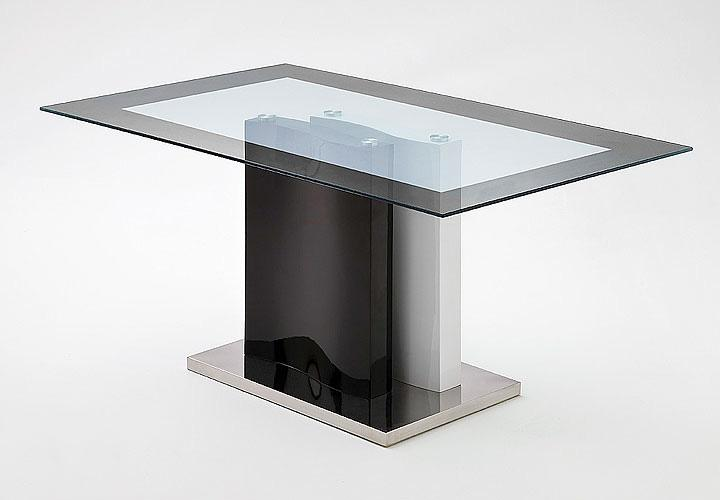Esstisch tyler s ulentisch schwarz wei hochglanz 160x90cm for Esstisch hochglanz schwarz